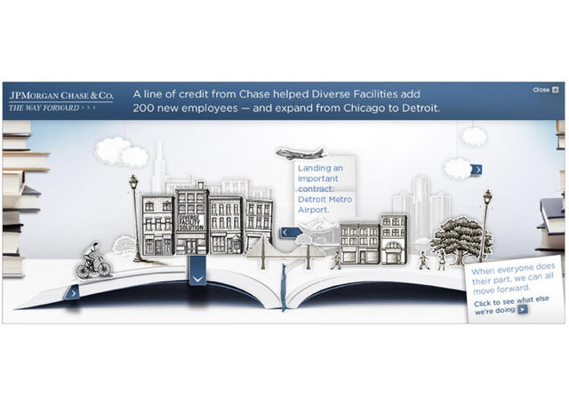 Steven Noble Illustrations: JP Morgan Chase ads -