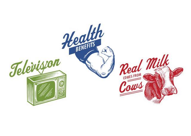 Steven Noble Illustrations: Got Milk logos