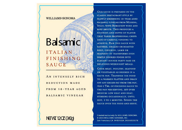 Balsamic Finishing Sauce