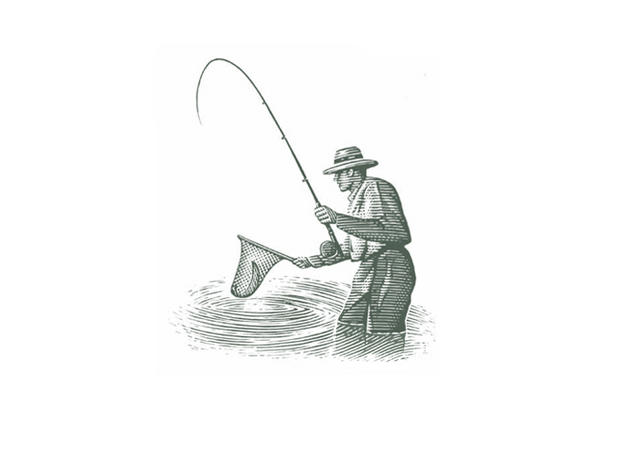 fly fisherman drawing - photo #7