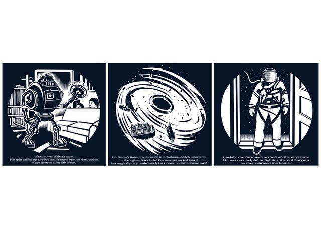 Steven Noble Illustrations Zathura Scene