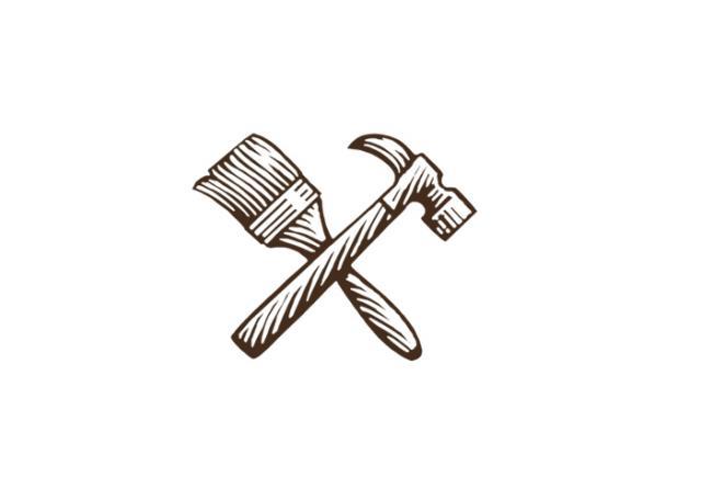 Steven Noble Illustrations Paint Brush Amp Hammer Icon