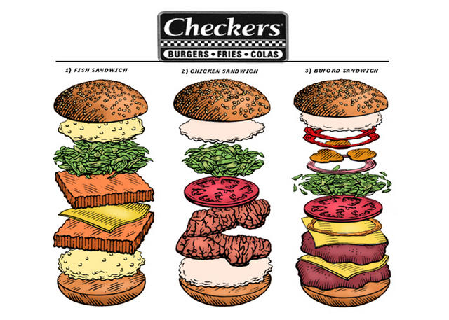 Checkers Sandwiches
