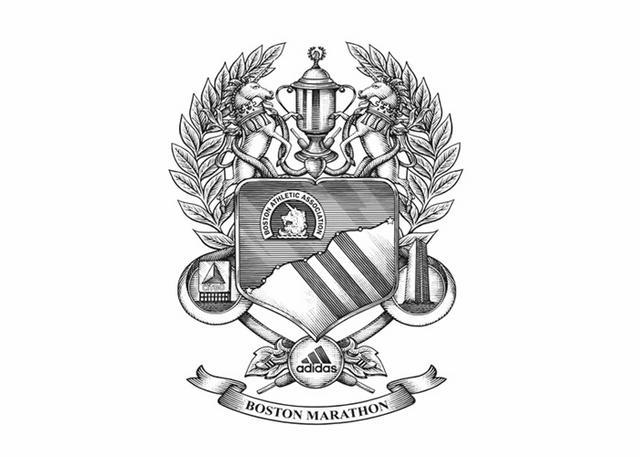 boston marathon logo. Boston Marathon Crest