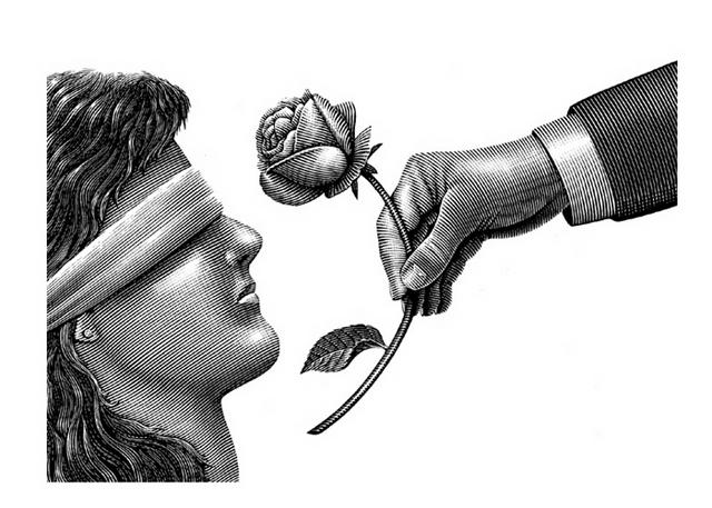 Blindfold and Rose