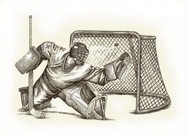 Steven Noble Illustrations Hockey Goalie