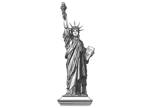 Steven Noble Illustrations Statue Of Liberty Complete