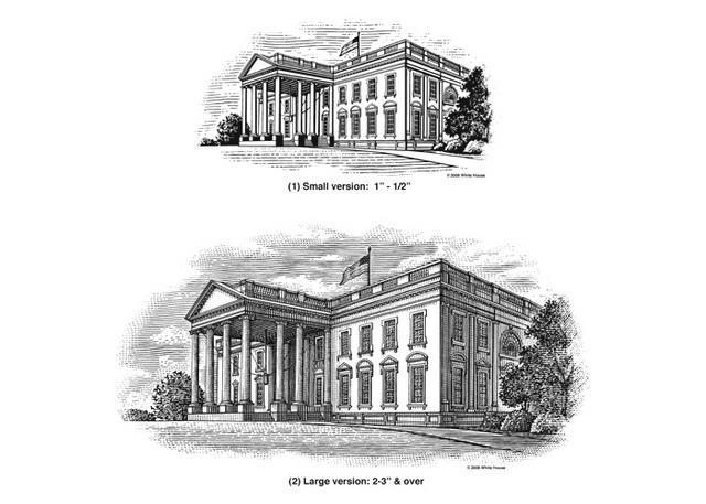 Steven Noble Illustrations White House Logo Versions